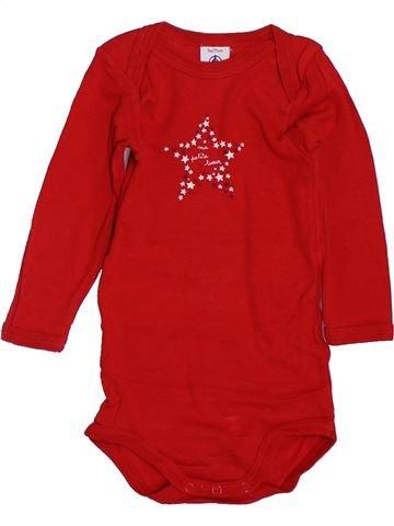 Camiseta de manga larga unisex PETIT BATEAU rojo 9 meses invierno #1397670_1