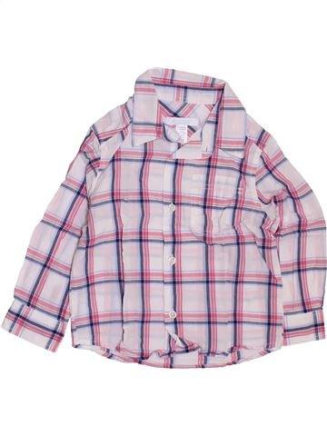 Chemise manches longues garçon OKAIDI rose 2 ans hiver #1397671_1