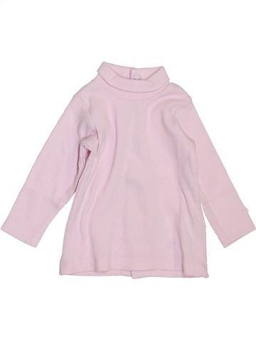 Camiseta de cuello alto niña BERLINGOT rosa 3 meses invierno #1397815_1