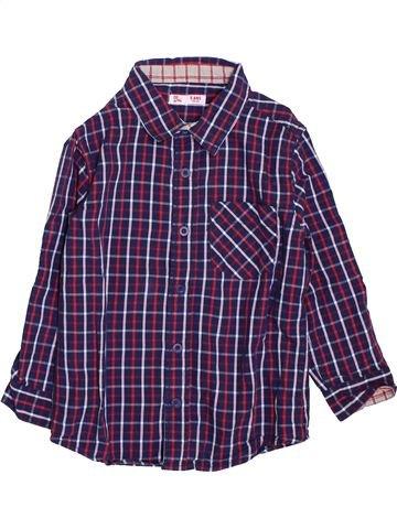 Chemise manches longues garçon DPAM bleu 5 ans hiver #1397881_1