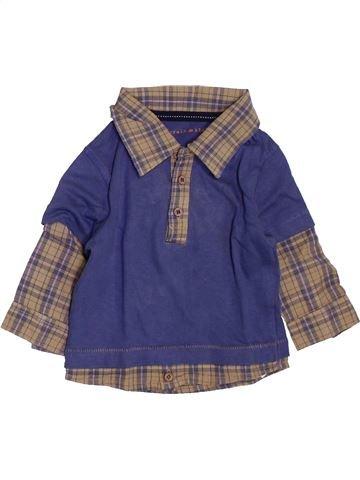 Polo manches longues garçon GRAIN DE BLÉ violet 3 mois hiver #1398067_1
