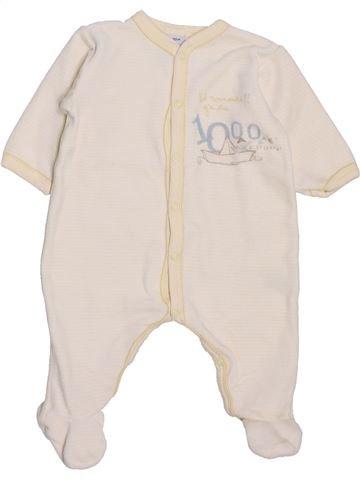 Pijama de 1 pieza niño PETIT BATEAU violeta 3 meses invierno #1398076_1