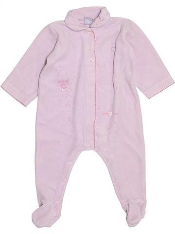 Pyjama 1 pièce fille PETIT BATEAU blanc 12 mois hiver #1398426_1