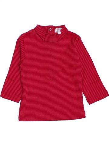 T-shirt manches longues fille KIABI rouge 6 mois hiver #1398637_1