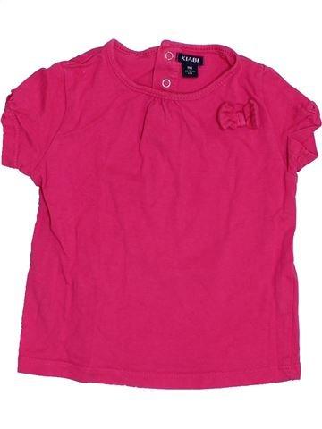 T-shirt manches courtes fille KIABI rose 9 mois été #1398652_1