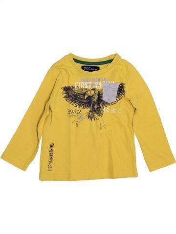 T-shirt manches longues garçon YCC-214 jaune 2 ans hiver #1399104_1