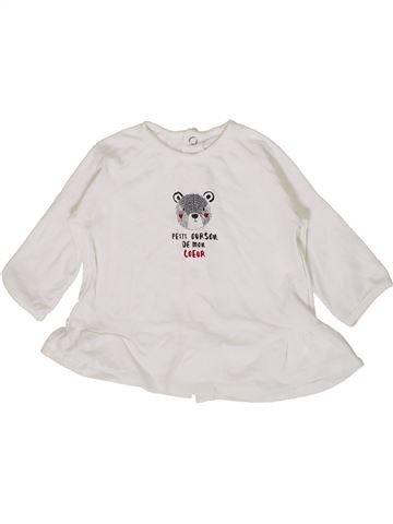 T-shirt manches longues fille SUCRE D'ORGE blanc 6 mois hiver #1399567_1