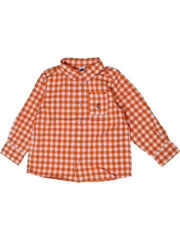 Chemise manches longues garçon PETIT BATEAU orange 3 ans hiver #1399640_1
