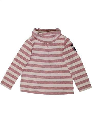 T-shirt col roulé fille PETIT BATEAU beige 6 ans hiver #1399662_1