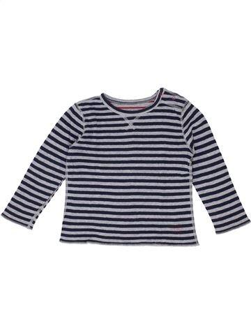 T-shirt manches longues garçon PETIT BATEAU bleu 4 ans hiver #1399681_1