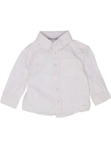 Chemise manches longues garçon OKAIDI blanc 12 mois hiver #1399870_1