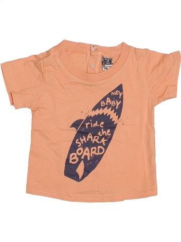 T-shirt manches courtes garçon TAPE À L'OEIL beige 12 mois été #1399924_1