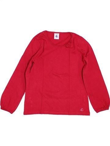 T-shirt manches longues fille PETIT BATEAU rouge 5 ans hiver #1399959_1