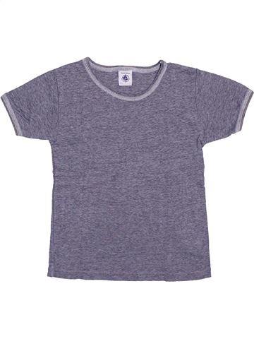 T-shirt manches courtes garçon PETIT BATEAU violet 6 ans été #1400150_1