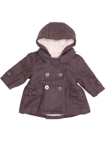 Abrigo niña VERTBAUDET gris 6 meses invierno #1400191_1