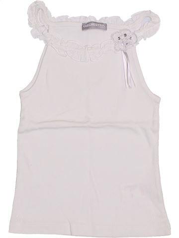 T-shirt sans manches fille ORCHESTRA blanc 6 ans été #1400278_1