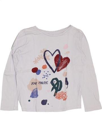 T-shirt manches longues fille MONOPRIX blanc 8 ans hiver #1400511_1