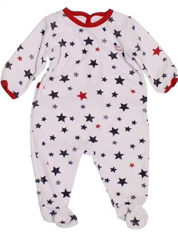Pyjama 1 pièce garçon PETIT BATEAU blanc 6 mois hiver #1400535_1