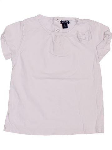 T-shirt manches courtes fille KIABI blanc 12 mois été #1400785_1