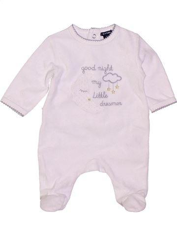 Pijama de 1 pieza unisex KIABI blanco 1 mes invierno #1400808_1