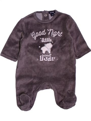 Pijama de 1 pieza niño KIABI marrón 1 mes invierno #1400813_1