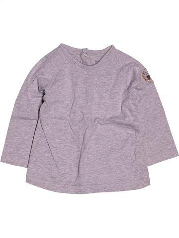 Camiseta de manga larga niño VERTBAUDET gris 12 meses invierno #1400851_1