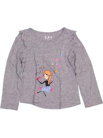 T-shirt manches longues fille LH BY LA HALLE violet 5 ans hiver #1400865_1