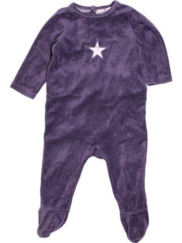 Pyjama 1 pièce garçon BOUT'CHOU violet 12 mois hiver #1400903_1
