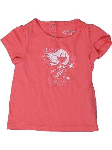 T-shirt manches courtes fille ORCHESTRA rose 9 mois été #1400957_1
