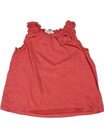 T-shirt sans manches fille H&M rouge 12 mois été #1400972_1