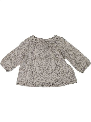 Blouse manches longues fille BOUT'CHOU gris 9 mois hiver #1401000_1
