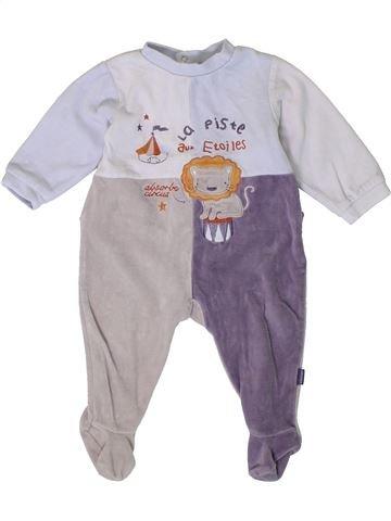 Pyjama 1 pièce garçon ABSORBA blanc 12 mois hiver #1401019_1