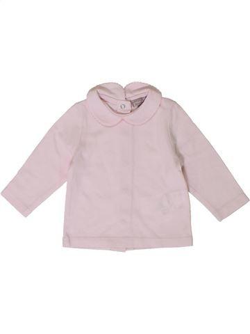Camiseta de manga larga niña GRAIN DE BLÉ blanco 3 meses invierno #1401036_1