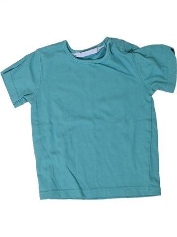 T-shirt manches courtes garçon GEMO bleu 18 mois été #1401066_1