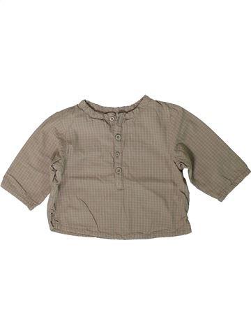 Camisa de manga larga niño VERTBAUDET gris 6 meses invierno #1401117_1