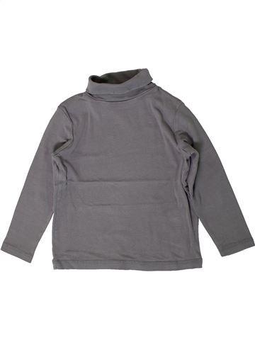 Camiseta de cuello alto niño VERTBAUDET gris 5 años invierno #1401122_1