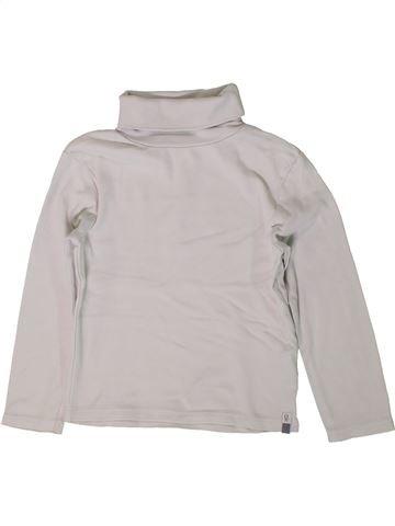 T-shirt col roulé garçon OKAIDI blanc 4 ans hiver #1401126_1