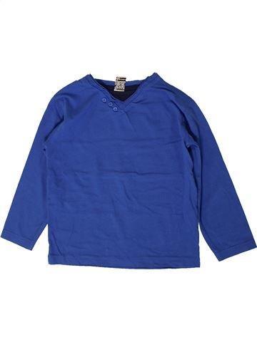 T-shirt manches longues garçon TAPE À L'OEIL bleu 5 ans hiver #1401129_1