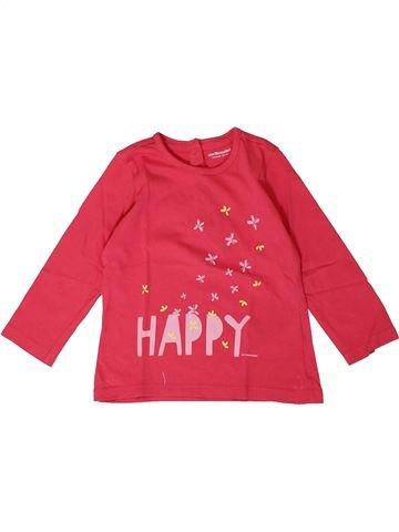 T-shirt manches longues fille VERTBAUDET rose 18 mois hiver #1401162_1