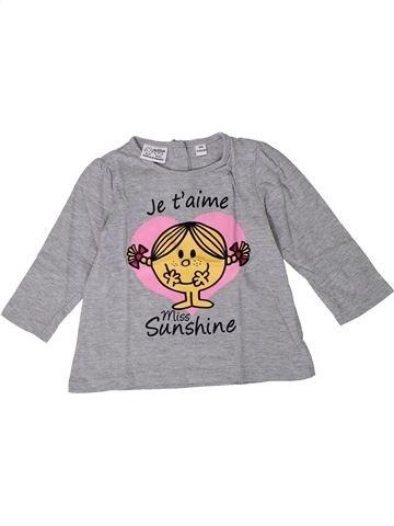 Camiseta de manga larga niña MONSIEUR MADAME gris 18 meses invierno #1401167_1