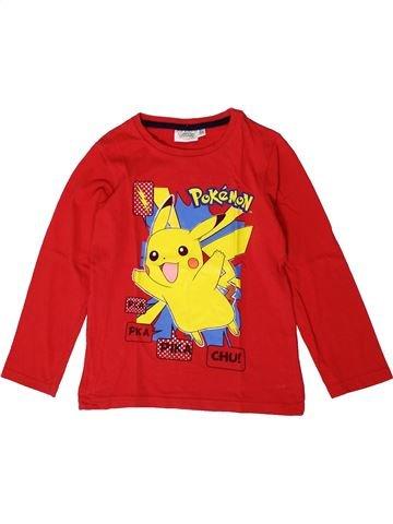 T-shirt manches longues garçon POKEMON rouge 6 ans hiver #1401169_1