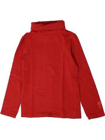 T-shirt col roulé fille OKAIDI rouge 6 ans hiver #1401182_1