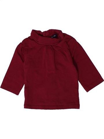 T-shirt col roulé fille KIABI violet 3 mois hiver #1401191_1