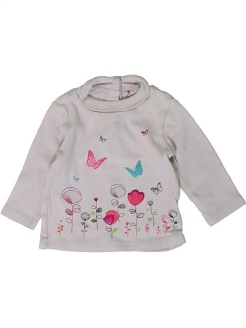 Camiseta de cuello alto niña ORCHESTRA gris 3 meses invierno #1401222_1