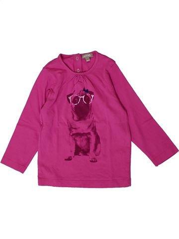 T-shirt manches longues fille GRAIN DE BLÉ rose 18 mois hiver #1401262_1