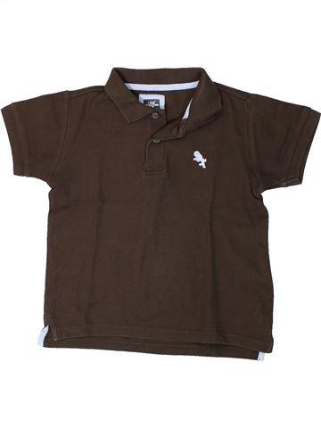 Polo manches courtes garçon H&M marron 6 ans été #1401276_1