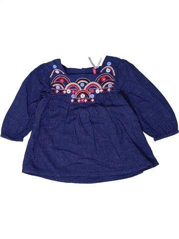 Blouse manches longues fille ORCHESTRA bleu 18 mois hiver #1401307_1