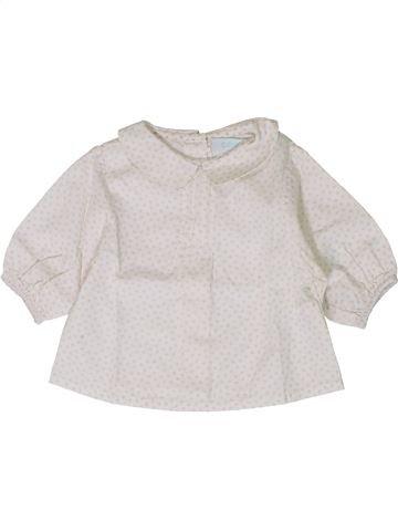 Blusa de manga larga niña OKAIDI blanco 1 mes invierno #1401319_1