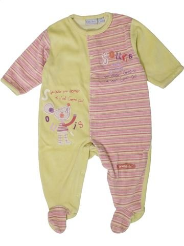 Pijama de 1 pieza niña KIABI beige 12 meses invierno #1401327_1