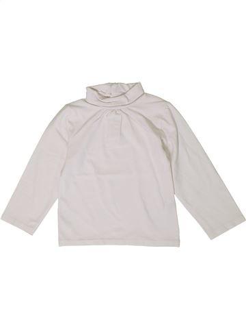 T-shirt col roulé fille KIABI blanc 2 ans hiver #1401336_1